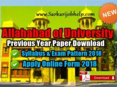 Allahabad University Previous Year Paper