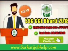 SSC CGL Graduate Level Bharti 2018