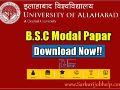 Allahabad University BSC Model Paper