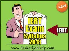 IERT Entrance Exam Syllabus