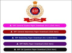 RPF Previous Year Question Paper
