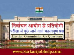 Election Commission Gk Questions PDF Download