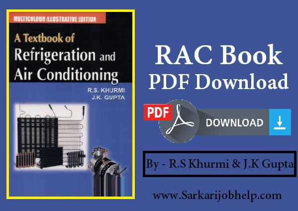 RAC Book PDF Download (Refrigeration and Air Conditioning)
