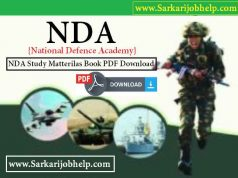 NDA Exam Study Material Book PDF Download in Hindi