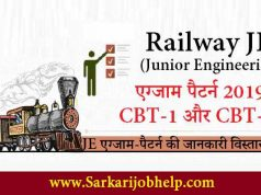 RRB JE Exam Pattern 2019 in Hindi PDF